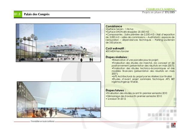 CASABLANCA MARINA                                                             Projets en phase d' ETUDES01.5   Palais des ...