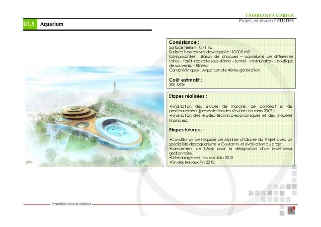 CASABLANCA MARINA                                                         Projets en phase d' ETUDES01.5   Aquarium       ...