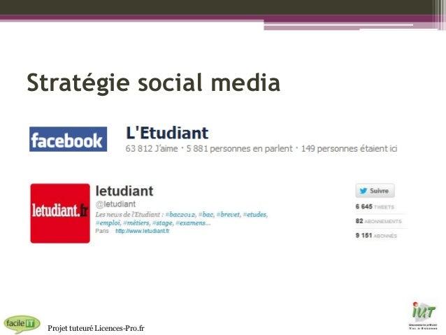 Stratégie social media  Projet tuteuré Licences-Pro.fr