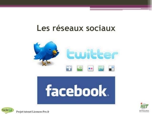 Les réseaux sociaux  Projet tuteuré Licences-Pro.fr