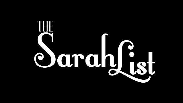 Projeto The SarahList