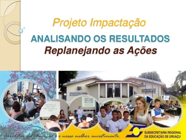 Projeto ImpactaçãoANALISANDO OS RESULTADOS  Replanejando as Ações