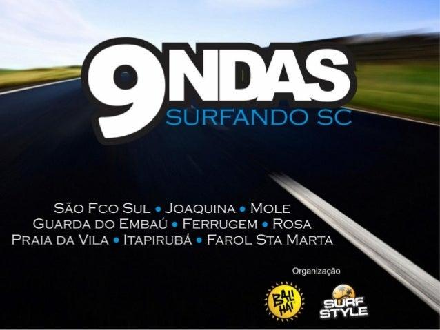 Surfar as principais ondas de SC em 7 dias! Esse é o9ndas. Um projeto que reunirá surfistas de Joinvilleem uma expedição p...