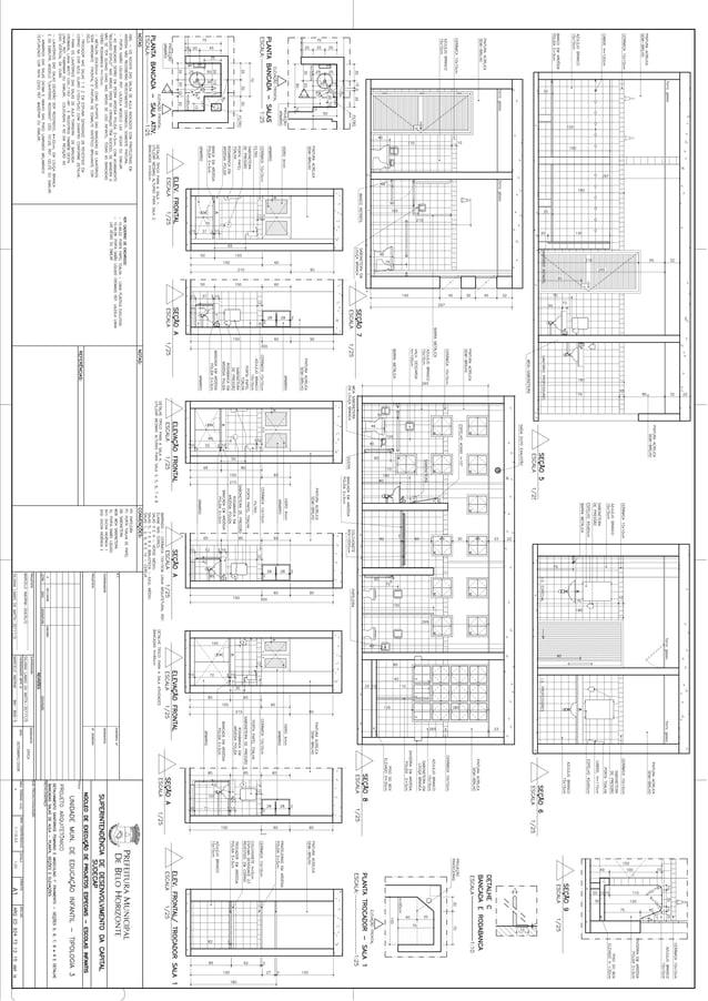 Projeto arquitetônico das UMEIS tipologia 3