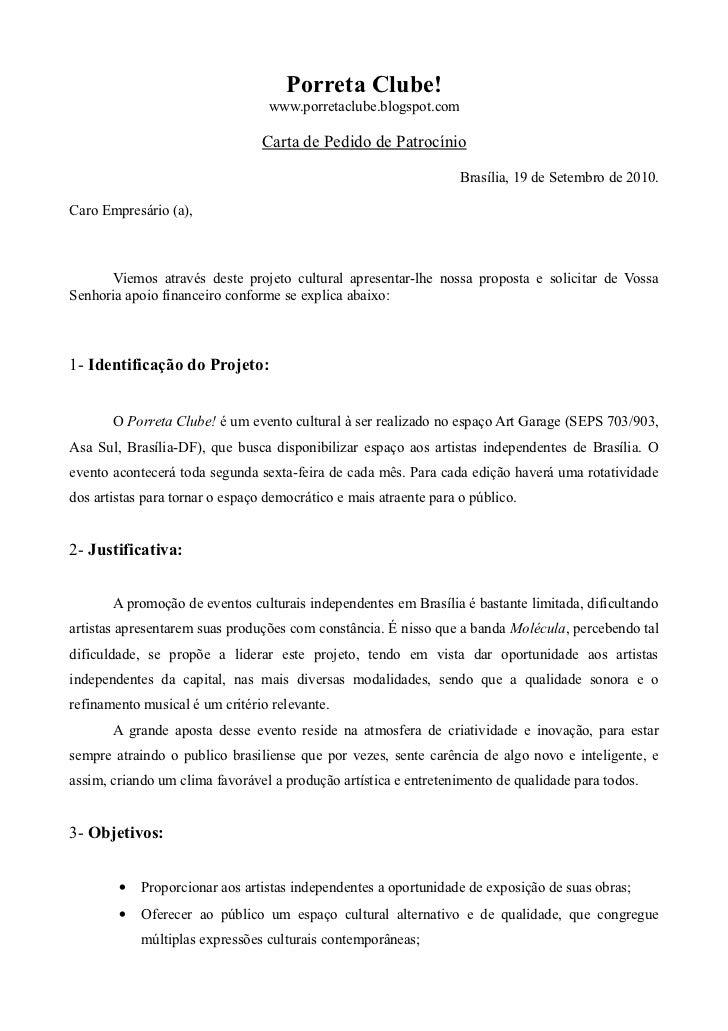 Porreta Clube!                                  www.porretaclube.blogspot.com                                 Carta de Ped...