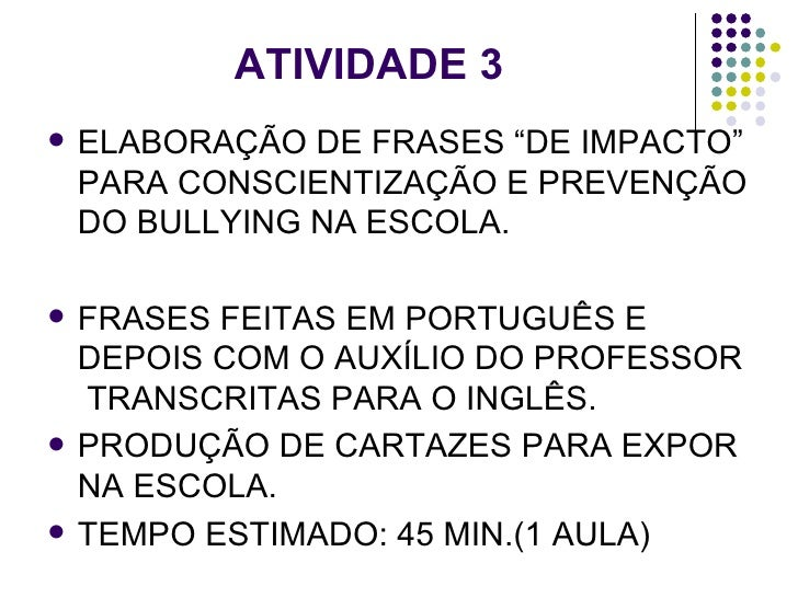 Projeto Bullying Epiva