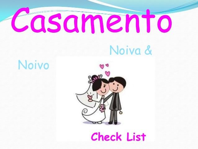 Casamento Noiva & Noivo Check List