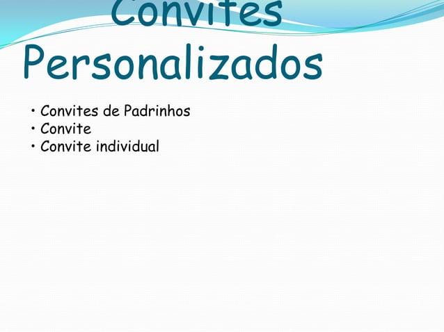 Convites Personalizados • Convites de Padrinhos • Convite • Convite individual