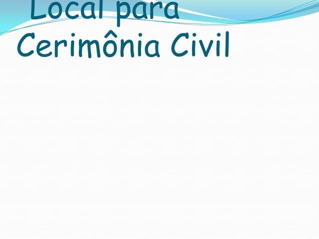 Local para Cerimônia Civil