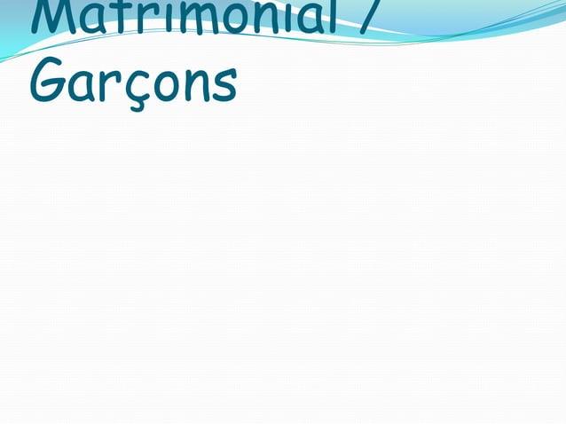 Matrimonial / Garçons