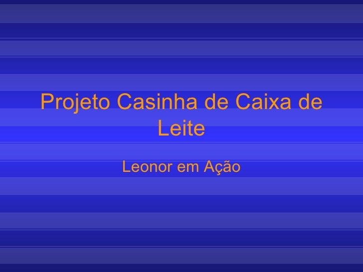 Projeto Casinha de Caixa de Leite Leonor em Ação