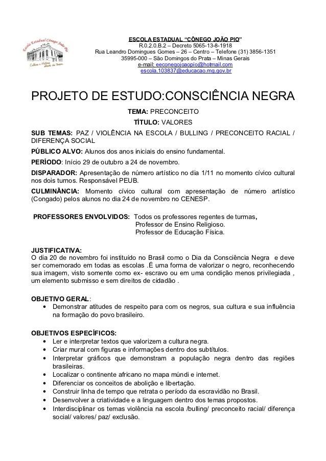 Amado Projeto consciência negra JG24