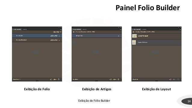 Painel Folio Builder 14 Exibição de Folio Exibição de Artigos Exibição de Layout Exibição do Fólio Builder