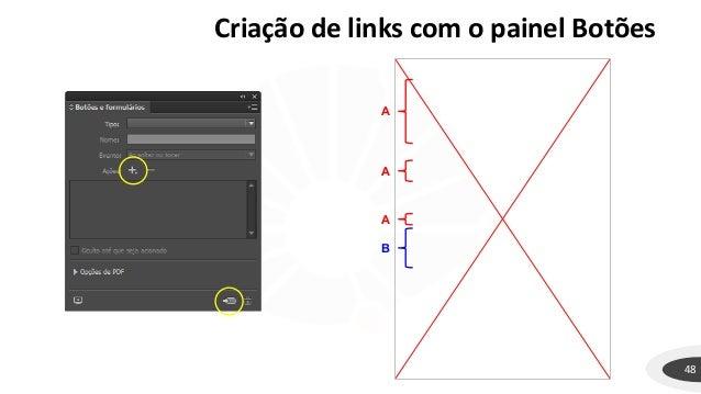 Criação de links com o painel Botões 48 A A A B