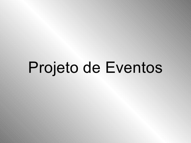 Projeto de Eventos