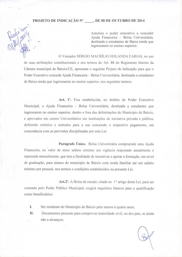 Projeto de indicação   sérgio