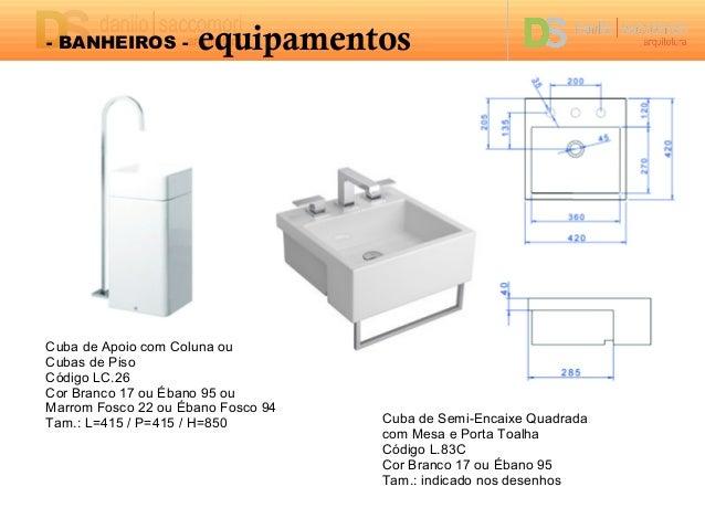 Projeto de Interiores Residenciais  Banho # Dimensões De Cuba Para Banheiro