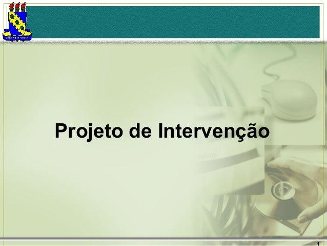 Projeto de Intervenção