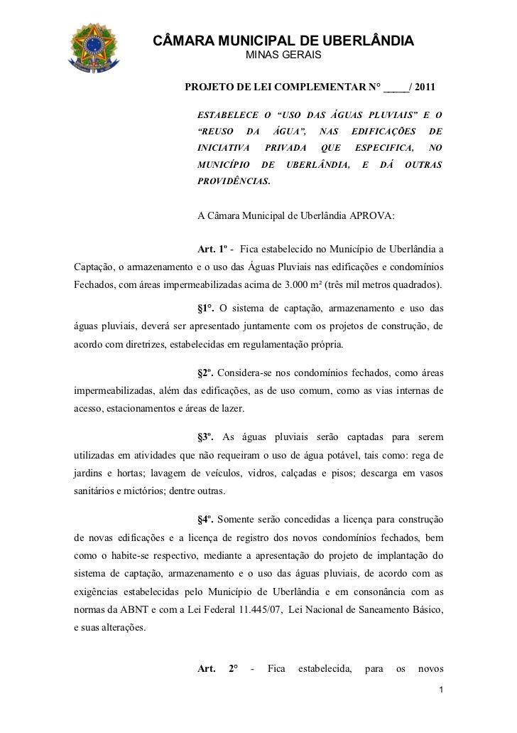 CÂMARA MUNICIPAL DE UBERLÂNDIA                                              MINAS GERAIS                           PROJETO...
