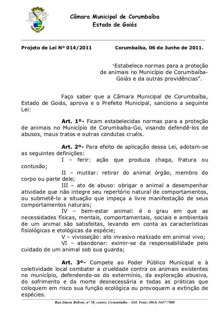 Câmara Municipal de Corumbaíba                                 Estado de Goiás____________________________________________...