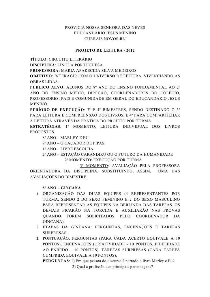 PROVÍCIA NOSSA SENHORA DAS NEVES                   EDUCANDÁRIO JESUS MENINO                        CURRAIS NOVOS-RN       ...