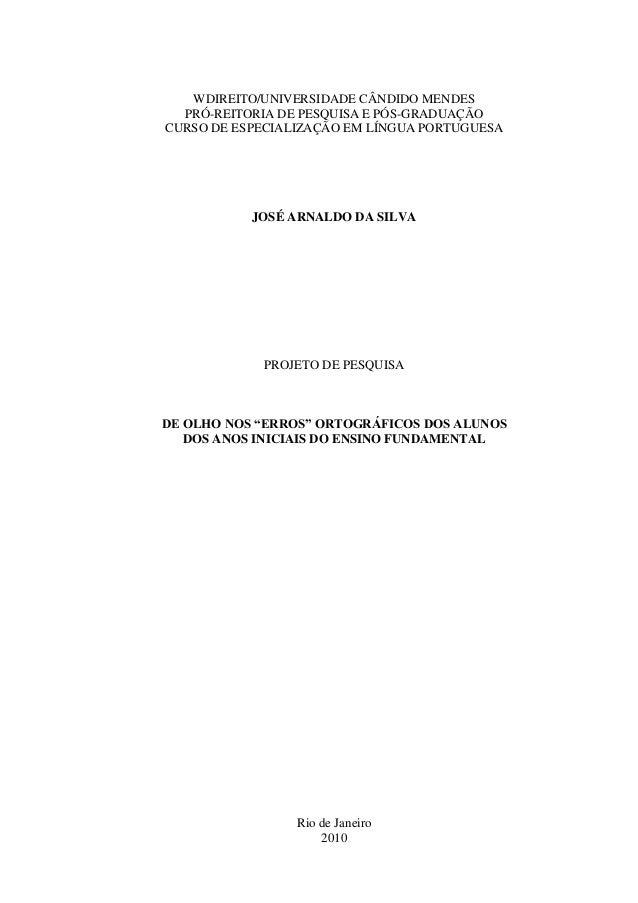 WDIREITO/UNIVERSIDADE CÂNDIDO MENDES  PRÓ-REITORIA DE PESQUISA E PÓS-GRADUAÇÃOCURSO DE ESPECIALIZAÇÃO EM LÍNGUA PORTUGUESA...