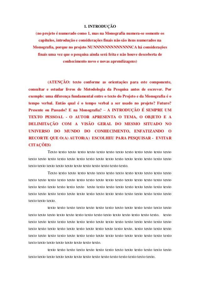 Exemplo de projeto de monografia