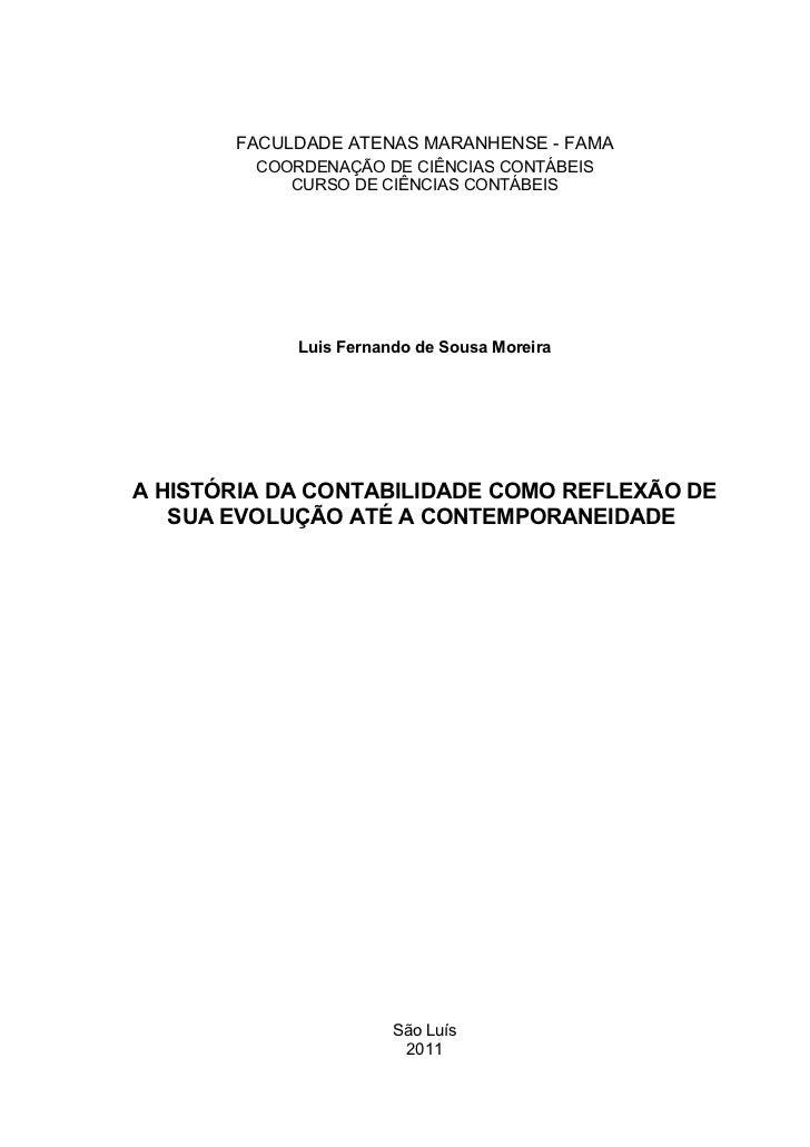 FACULDADE ATENAS MARANHENSE - FAMA         COORDENAÇÃO DE CIÊNCIAS CONTÁBEIS            CURSO DE CIÊNCIAS CONTÁBEIS       ...
