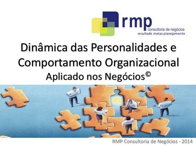 RMP Consultoria de Negócios - 2014 Dinâmica das Personalidades e Comportamento Organizacional Aplicado nos Negócios© resul...