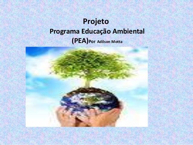 Projeto Programa Educação Ambiental (PEA)Por Adilson Motta  j
