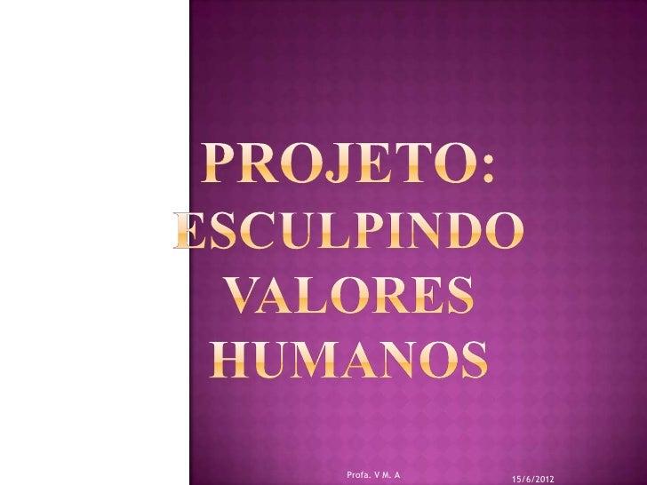Profa. V M. A                15/6/2012