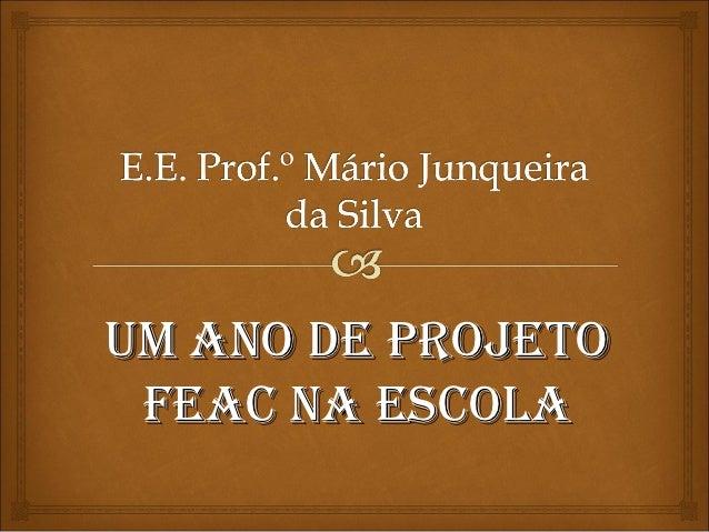 UM ANO DE PROJETO FEAC NA ESCOLA
