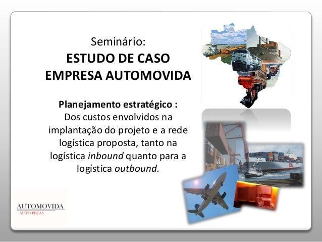 Seminário:  ESTUDO DE CASO  EMPRESA AUTOMOVIDA  Planejamento estratégico :  Dos custos envolvidos na  implantação do proje...