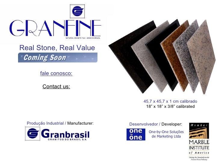 """Real Stone, Real Value 45,7 x 45,7 x 1 cm calibrado 18"""" x 18"""" x 3/8"""" calibrated Produção Industrial /  Manufacturer : Dese..."""