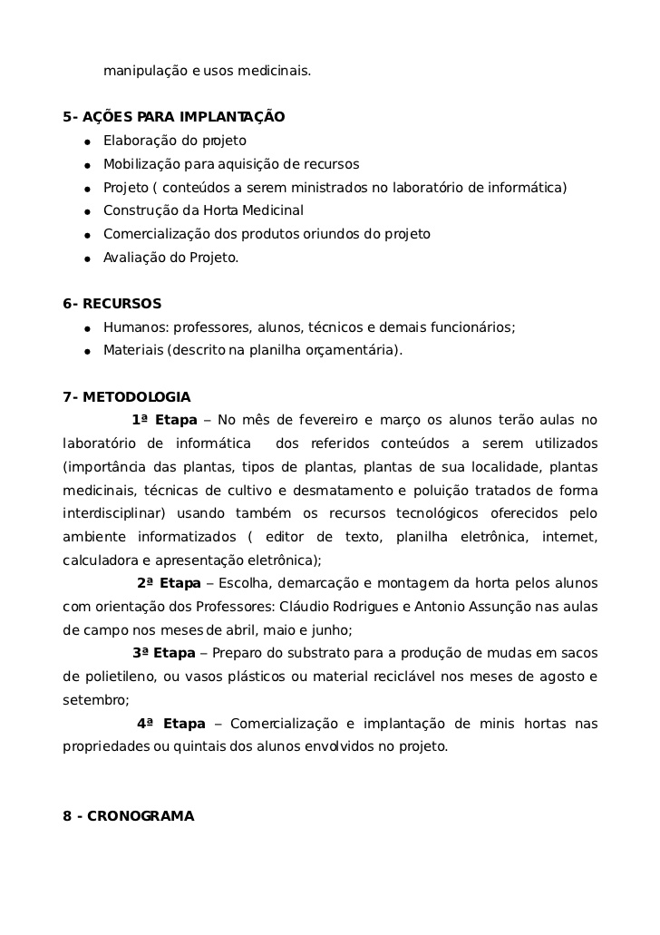 Conhecido Projeto horta medicinal MD94