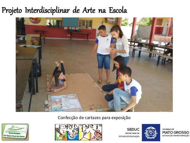 Projeto Interdisciplinar de Arte na Escola Confecção de cartazes para exposição