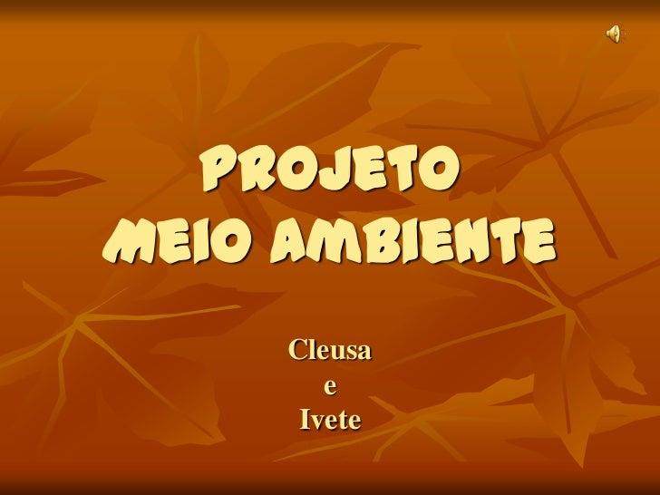 Projeto Meio AmbienteCleusaeIvete<br />