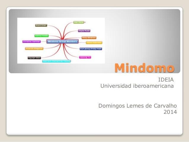 Mindomo IDEIA Universidad iberoamericana Domingos Lemes de Carvalho 2014