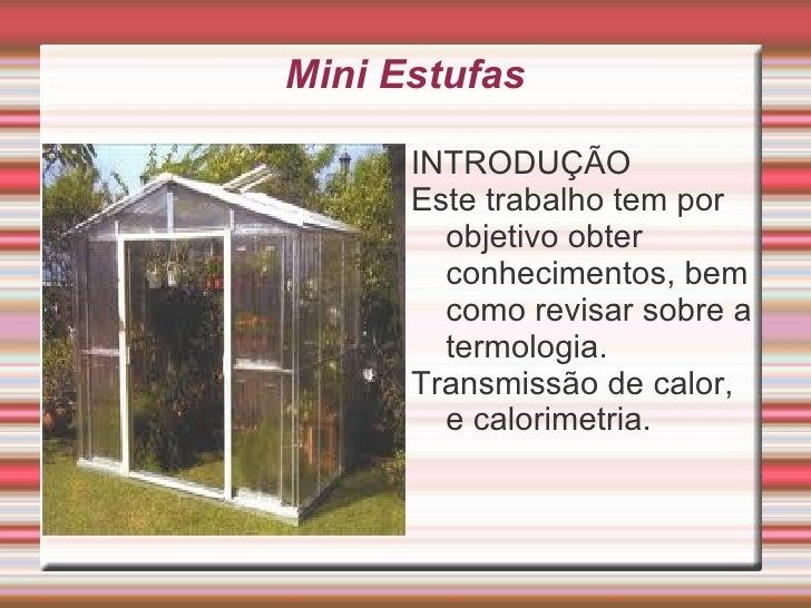 Projeto mini estufa Slide 2