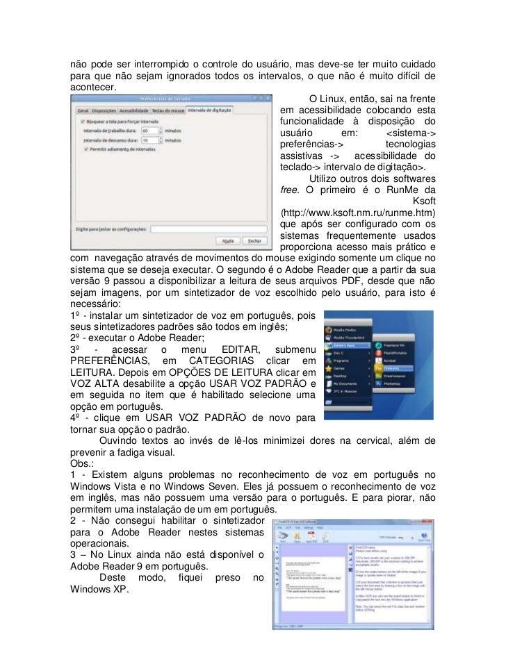 Doenças ocupacionais em informática: um problema sistêmico Slide 2