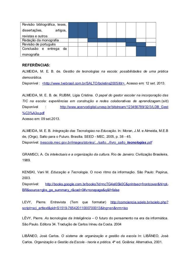 PROJETO DE PESQUISA - EDUCAÇÃO TECNOLÓGICA CEFET - RJ- UFF