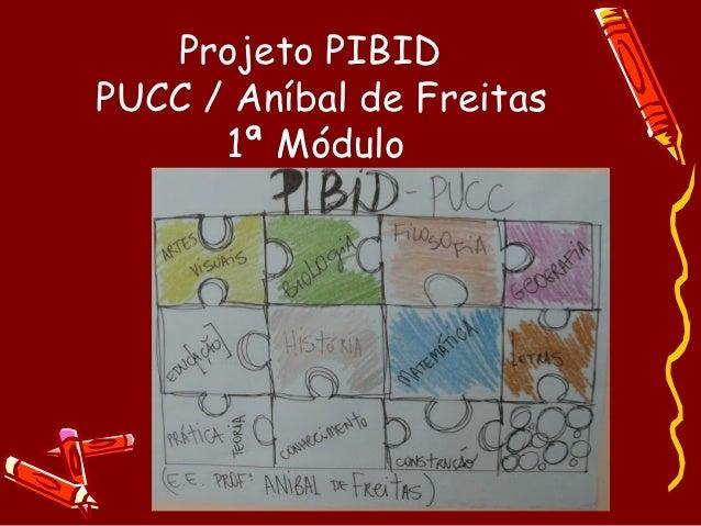 Projeto PIBIDPUCC / Aníbal de Freitas      1ª Módulo