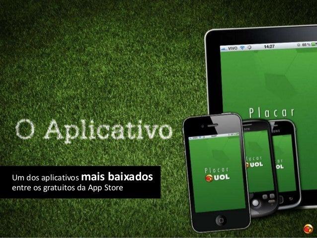 O aplicativo Placar reúne:•   Disponibiliza resultados minuto a minuto dos    principais campeonatos.•   Tabela dos jogos,...