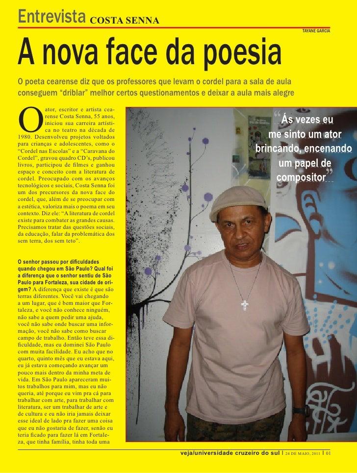 Entrevista COSTA SENNAA nova face da poesia                                                                               ...