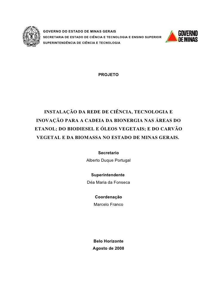 GOVERNO DO ESTADO DE MINAS GERAIS   SECRETARIA DE ESTADO DE CIÊNCIA E TECNOLOGIA E ENSINO SUPERIOR   SUPERINTENDÊNCIA DE C...