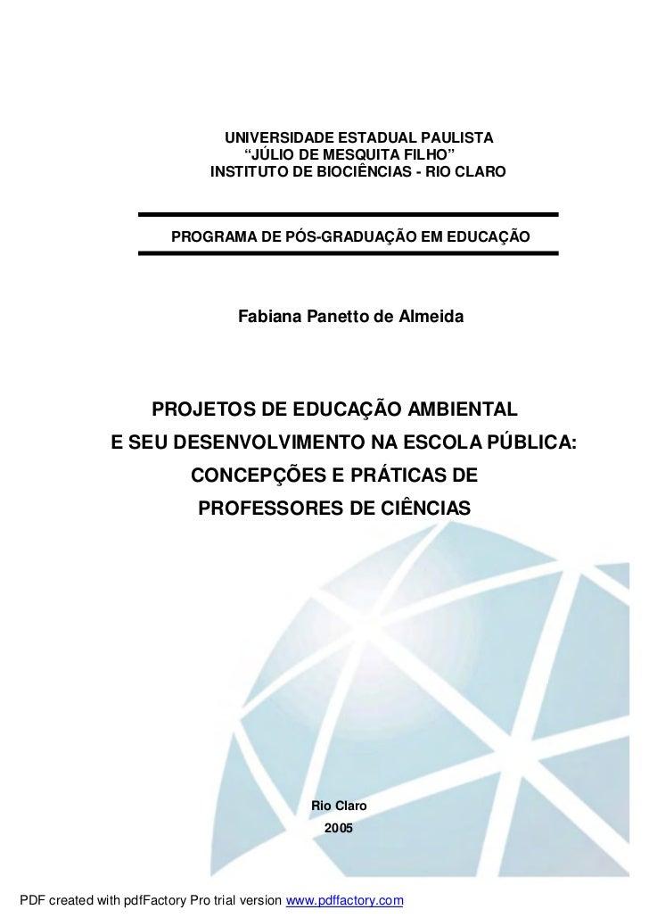 """UNIVERSIDADE ESTADUAL PAULISTA                                   """"JÚLIO DE MESQUITA FILHO""""                               I..."""
