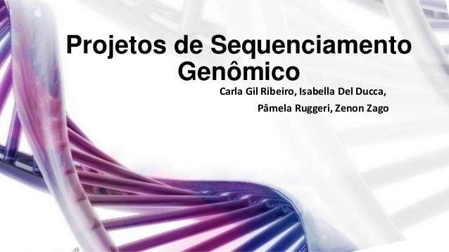Projetos de Sequenciamento Genômico Carla Gil Ribeiro, Isabella Del Ducca, Pâmela Ruggeri, Zenon Zago