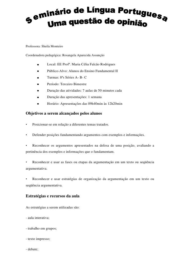 Exemplo de slide para apresentação de trabalho