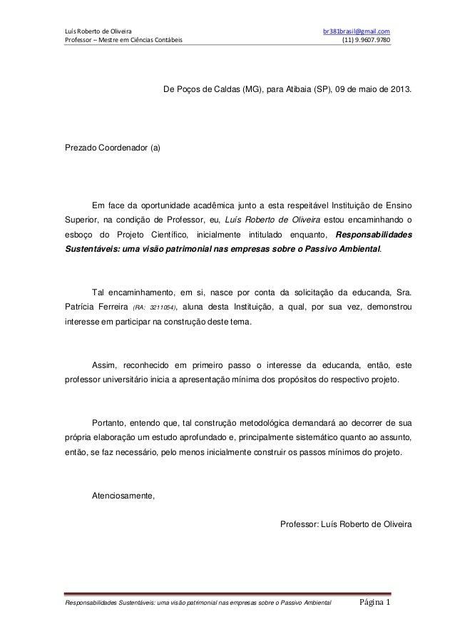 Luís Roberto de Oliveira br381brasil@gmail.comProfessor – Mestre em Ciências Contábeis (11) 9.9607.9780Responsabilidades S...