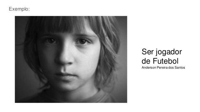 Ser jogador de Futebol Anderson Pereira dos Santos Exemplo: